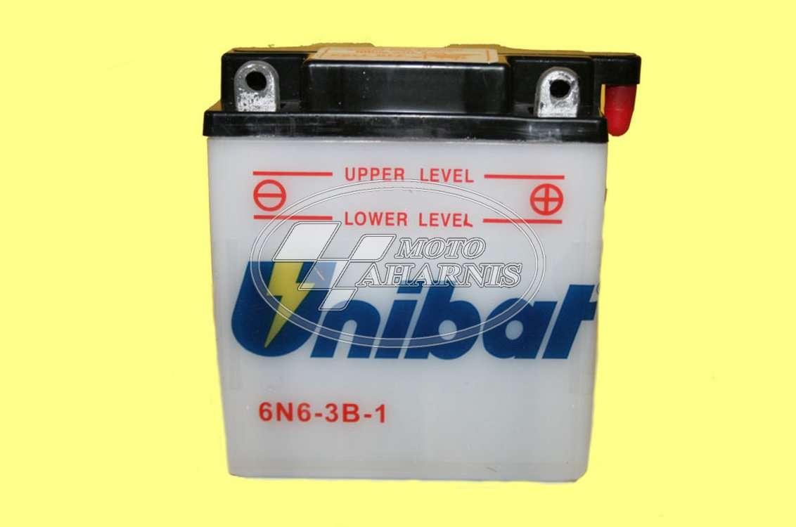 ΜΠΑΤΑΡΙΑ UNIBAT 6N6-3B-1 ΑΝΟΙΧΤΟΥ ΤΥΠΟΥ